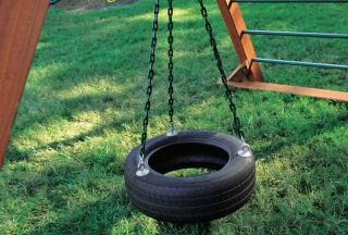 3-Chain Rubber Tire Swing