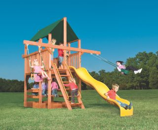playhouse with double swing arm
