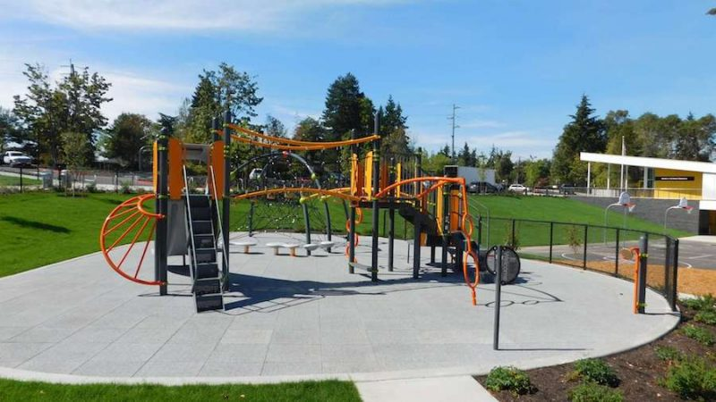 Rubber safety tiles - playground