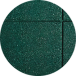 Rubber safety tiles - color Green