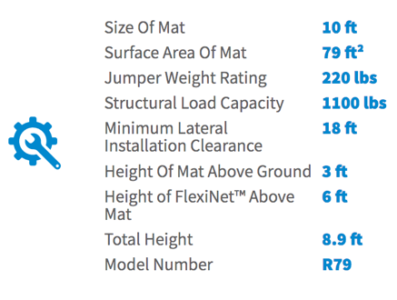 Springfree 10 ft Medium Round Product Specifications