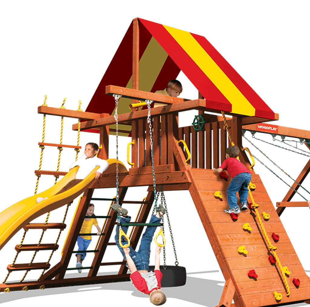 Woodplay Lion's Den Red and Yellow Vinyl Canopy