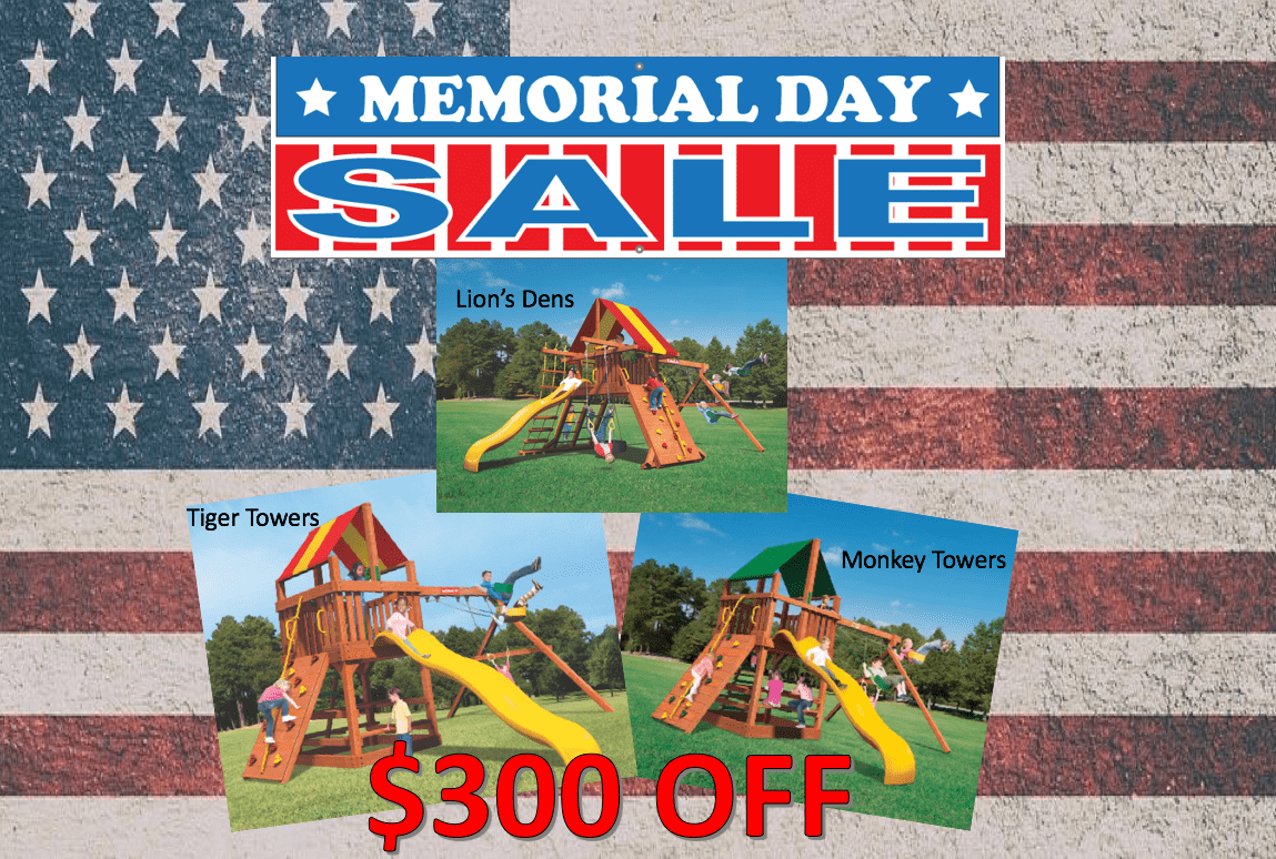Memorial Day Sale Special Woodplay Playsets $300 Off